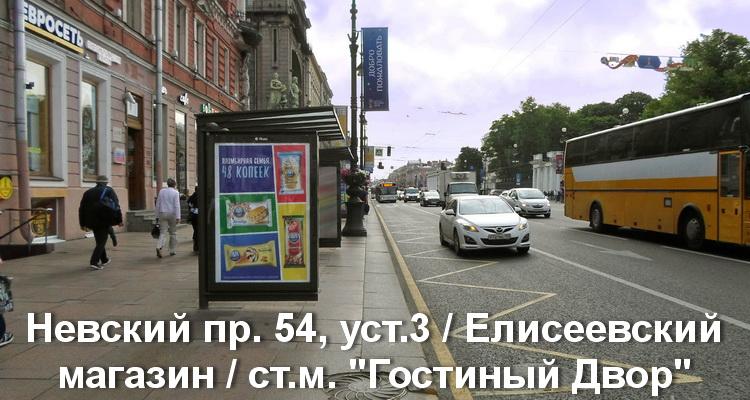"""Невский пр. 54, уст.3 / Елисеевский магазин / ст.м. """"Гостиный Двор"""""""