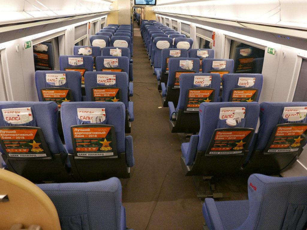 реклама в поездах сапсан