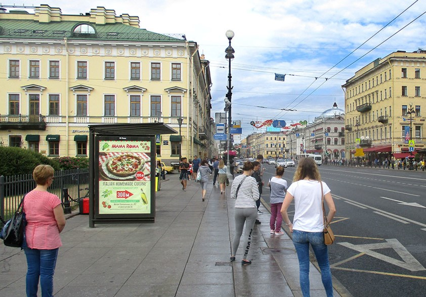 реклама на Невском