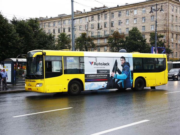 реклама на автобусах спб