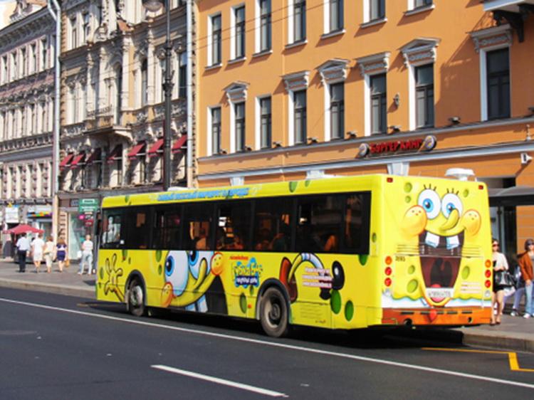 полное брендирование автобусов