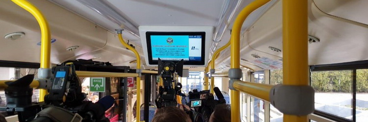 реклама на видеоэкранах в автобусах
