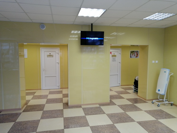 видеоэкраны в поликлиниках